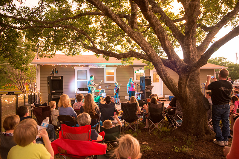 The Red Oak Stage - Our backyard Recital Concerts.